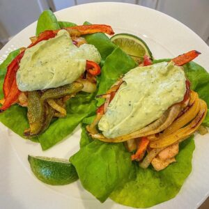 Whole30-Chicken-Fajitas-with-Avocado Sour-Cream