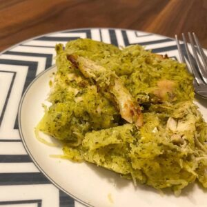 Whole30 Pesto Chicken Bake