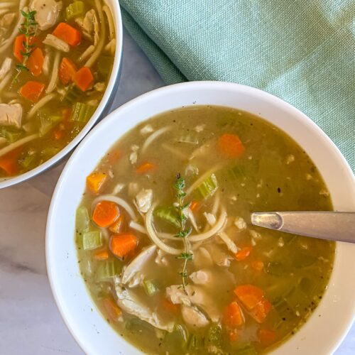 Classic Gluten Free chicken noodle soup