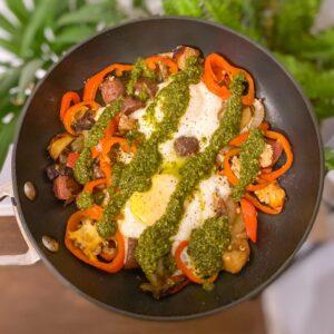 Easy egg and veggie skillet